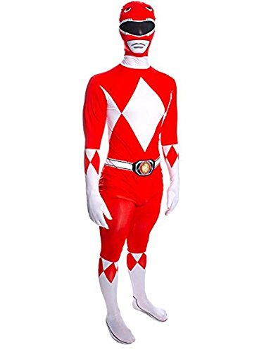 Disfraz para Adulto de Power Ranger Rojo Mighty Morphin, tamaño ...