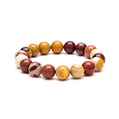 (eletout Handmade 10mm Round Natural Semi PreciousGemstone Beaded Stretch Solid Color Bracelets (Royal Stone))