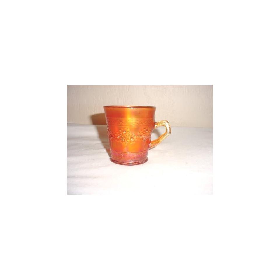 Vintage Fenton Orange Tree Marigold Carnival Glass Mug
