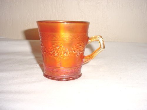 Tree Orange Fenton (Vintage Fenton Orange Tree Marigold Carnival Glass Mug)