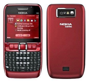 Nokia Series - Nokia E63 GSM Quadband QWERTY Phone (Unlocked) Red