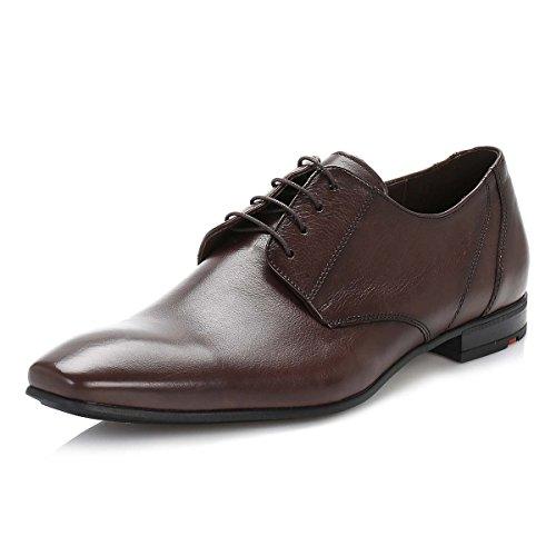 Lloyd Herren Brown Powell Leder Derby Schuhe-UK 8