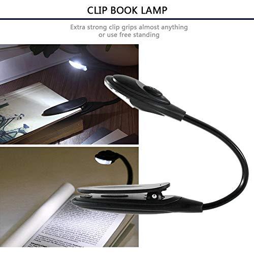 Al/éatoire BFBH Mini flexible clip-brillant Livre blanc LED Lumi/ère portable Livre de lecture Lampe portable compact /étudiant Lumi/ères dortoir