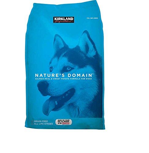 Kirkland Signature Nature's Domain Salmon Meal & Sweet Potato Dog Food 35 - Grain Dog Kirkland Food Free
