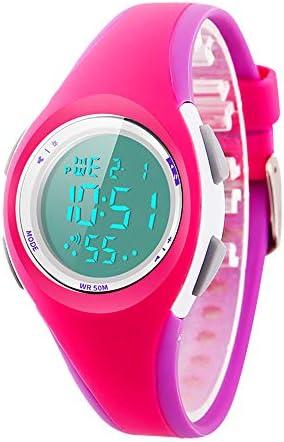 キッズウォッチ スポーツ LED アラーム ストップウォッチ デジタル 子供 クォーツ 腕時計 男の子 女の子