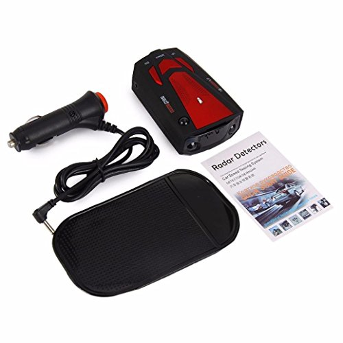 E-Bro 16 Band Radar Detector, Voice Alert and Car Speed Alarm System with 360 Degree Detection, City/Highway Mode Radar Detectors for Cars Red by E-Bro (Image #2)