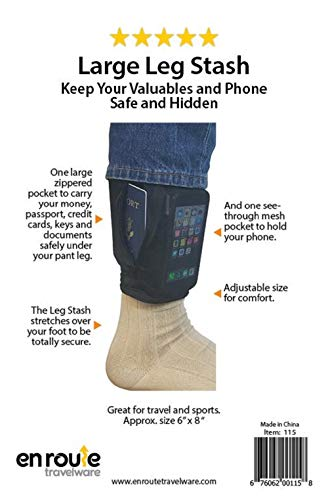 great deals on fashion big clearance sale more photos Hidden Leg Wallet Slide on Security Pouch Under Pants RFID ...