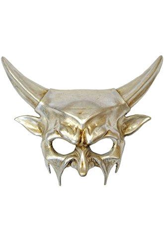 [Mememall Fashion Demonic Inferno Mardi Gras Masquerade Mask (Silver)] (Demonic Masks)
