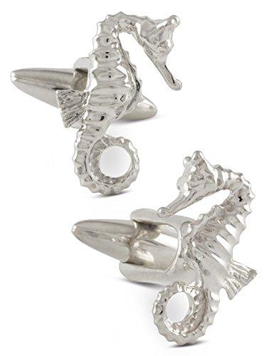 ZAUNICK-Seahorse-Cufflinks-Sterling-Silver