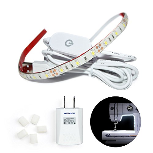 WENICE Sewing Machine LED Lights, lighting strip kit cold wh