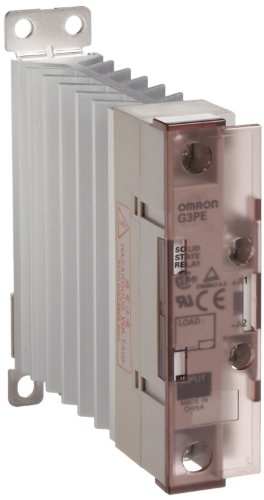 Omron G3PE-225B DC12-24 Solid State Relay for Heaters, Zero Cross Function, Yellow Indicator, Phototriac Coupler Isolation, Single-Phase, 25 A Rated Load Current, 100 to 240 VAC Rated Load Voltage, 12 to 24 VDC Input Voltage