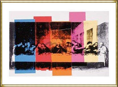ポスター アンディ ウォーホル Detail of The Last Supper 1986年 額装品 アルミ製ハイグレードフレーム(ゴールド) B00DCJZTDY ゴールド ゴールド