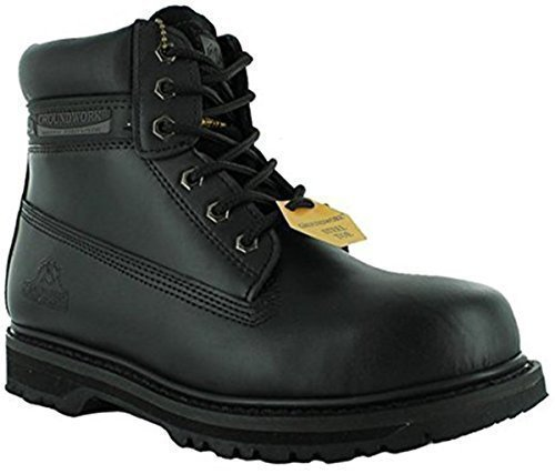 Mens Footwear Black Toe Steel Branded Work Hiking Safety Ankle Cap Work New Boots Groundwork Trainers Shoes vEnqZx