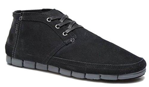 Crocs carbón Eu Hombre Negro Negro Lona Zuecos Para 39 De 40 aafCq