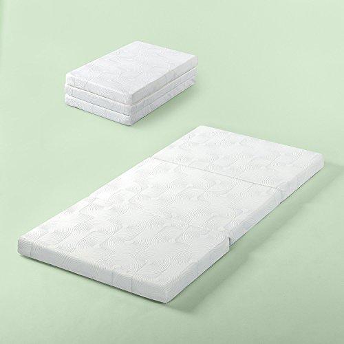 Zinus Gel Memory Foam 3 Inch Tri-Fold Comfort Portable Foldi