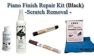 Piano Finish Repair - Piano Scratch Repair - Scratch Removal Kit Black (Ebony)- Furniture Touch up