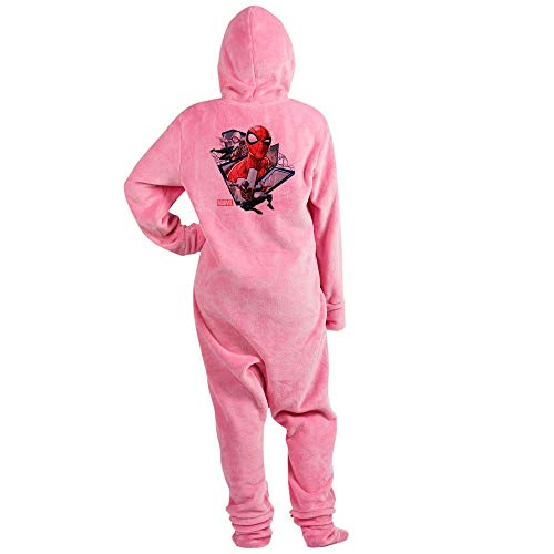 CafePress Spider Man Trio Novelty Footed Pajamas, Funny Adult One-Piece PJ Sleepwear Pink]()