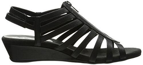 Snake Women US Sandal Wedge A2 Yetaway 5 Aerosoles Black M Y5aCwz