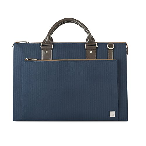 Moshi Urbana Briefcase – Slim Laptop Case with shoulder strap - Bahama Blue by Moshi
