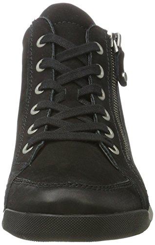 Ara Dames Rom-stf 12-44410 Hoge Sneakers Zwart (zwart, Gun)