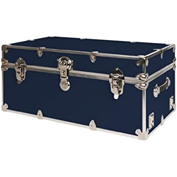 Ordinaire SecureOnCampus College Dorm Storage Trunks / Footlockers Small   Navy Blue