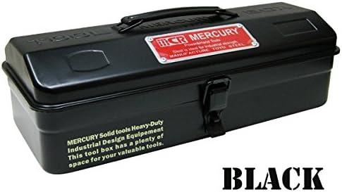 アメリカン ツールボックス/ブラック マーキュリーブランド 道具箱 工具入れ 収納ボックス DIY おしゃれ工具ボックス ガレージ アメリカ雑貨 アメリカン雑貨 ガレージ