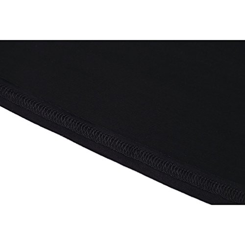 Donna T-Shirt - SODIAL(R)Donna T-Shirt collo sciallato maniche lunghe nero S