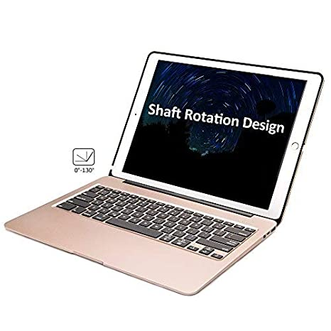 b225808706b iEGrow iPad Pro 12.9 Keyboard Case Gold F07 7 Colors Backlit Slim Aluminum  Bluetooth Keyboard with ...