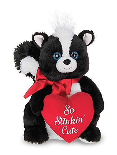 Bearington Romeo Plush Stuffed Animal Skunk with Heart, 10 inches]()