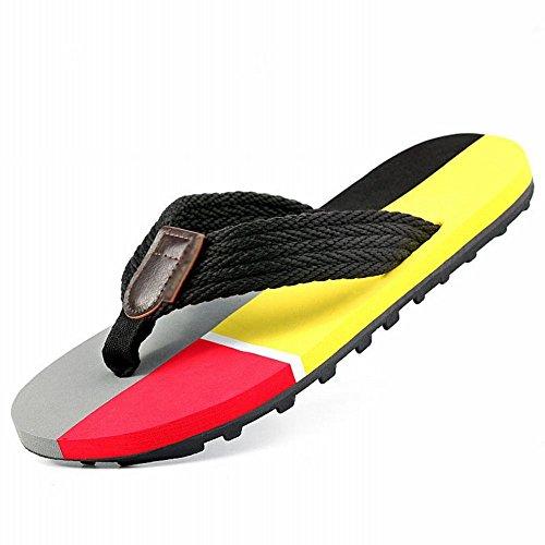 uomo Europa da in da estivi spesso America C uomo e Sandali con di da scarpe quattro antiscivolo sandali RBB fondo spiaggia tendenza sandali infradito vzRqHwf