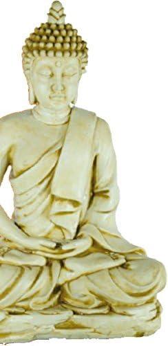 DEGARDEN AnaParra AnaParra Figura Decorativa Buda del Amor Decorativa para Jardín o Exterior Hecho de hormigón-Piedra Artificial | Figura Buda Grande de 73cm, Color Ocre: Amazon.es: Jardín