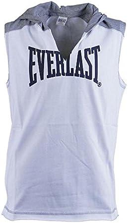 Everlast Sin Mangas C/Capucha Gym Gear Bases Blanco Gris Melange ...