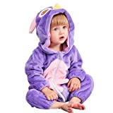 MICHLEY Unisex Baby Hooded Romper Autumn Winter Animal Flannel Jumpsuits Infant Toddler Costume maotouying-80cm