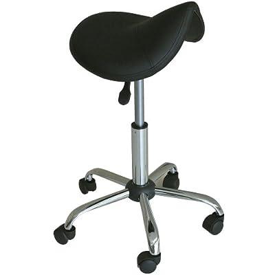 Massage Pro Saddle Stool, Black