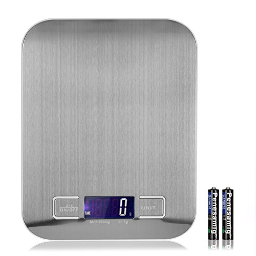 5kg 1g LCD Digital Scale Electronic Kitchen Weight Tool(WHITE) - 9