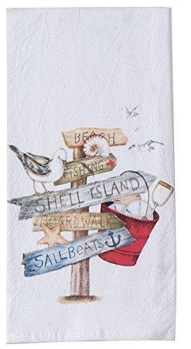 Kay Dee Designs R2933 Beach Signs Flour Sack Towel