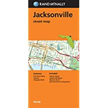 Amazon rand mcnally florida united states books folded map jacksonville street map sciox Image collections