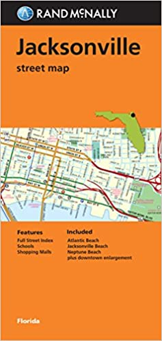Folded Map Jacksonville Street Map Rand Mcnally 9780528008719