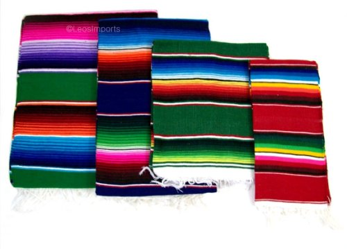 Leos Imports TM Mexican Sarape Blanket (Medium 50''x24'') by Leos Imports