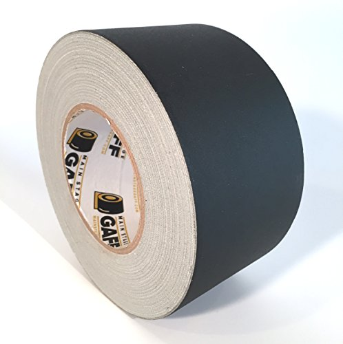 Gaffers Tape - 3 inch by 60 yards - Black - Main Stage Gaff Tape - Matte Finish - Easy to Tear by ()