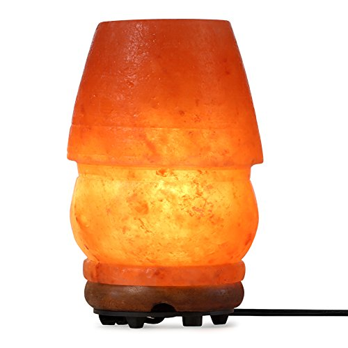 SMAGREHO Himalayan Salt Lamp, Table Lamp Shape Crystal Salt Rock Lamp with UL Listed Dimmer Switch (Small)