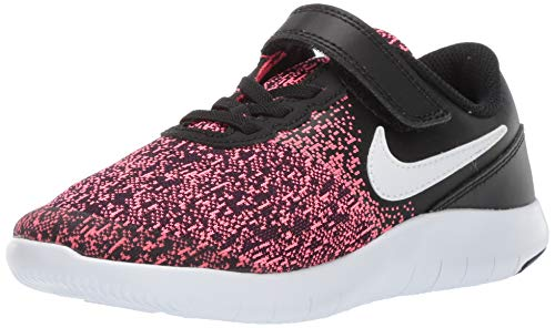 Nike Kids Flex Contact (PSV) Black White Racer Pink Size 3 (Girls Size 3 Nike Shoes)