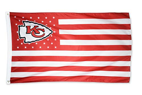 WHGJ Kansas City Chief NFL 3x5 FT Flag Super Bowl Stars and Stripes Indoor/Outdoor Sports Banner