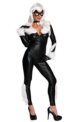 [Secret Wishes Women's Marvel Universe Black Cat Costume, Black, Small] (Black Superhero Marvel)