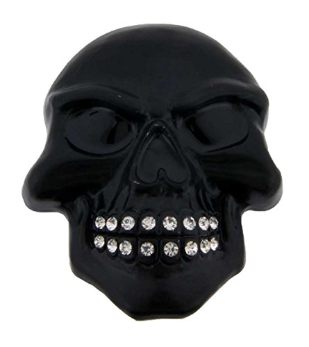 Mens Womens Skull Belt Buckle Skeleton Black Rhinestone Gothic Tribal Tattoo