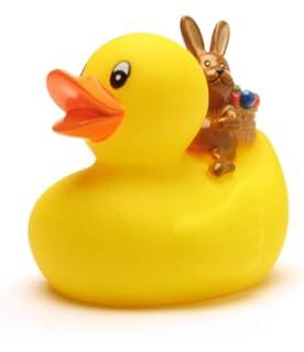 Enten Badeente Quietscheente Gumminente  mit Osterhase Plastikente 8cm Bade Ente