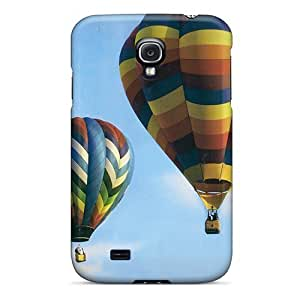 Fashion Tpu Case For Galaxy S4- Air Balloon 1 Defender Case Cover