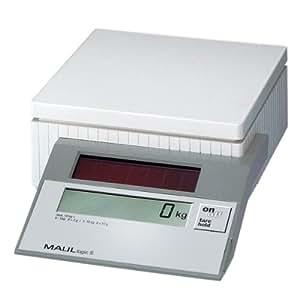 MAUL Solar Parcel Scale logicS - pesacartas (Color blanco, 252 x 165 x 70 mm)