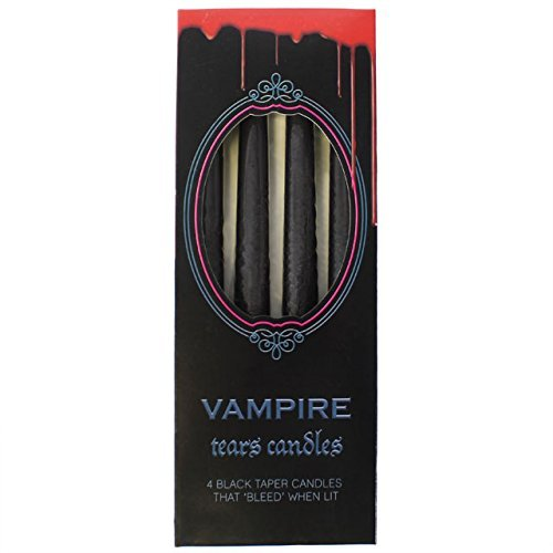 Taper Candles ~ Gothic/Halloween ~ VAMPIRE TEARS ~ Set of 4 ~ Drip Red When Lit]()