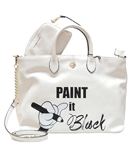 LE PANDORINE Matrioska borsa Paint bianco